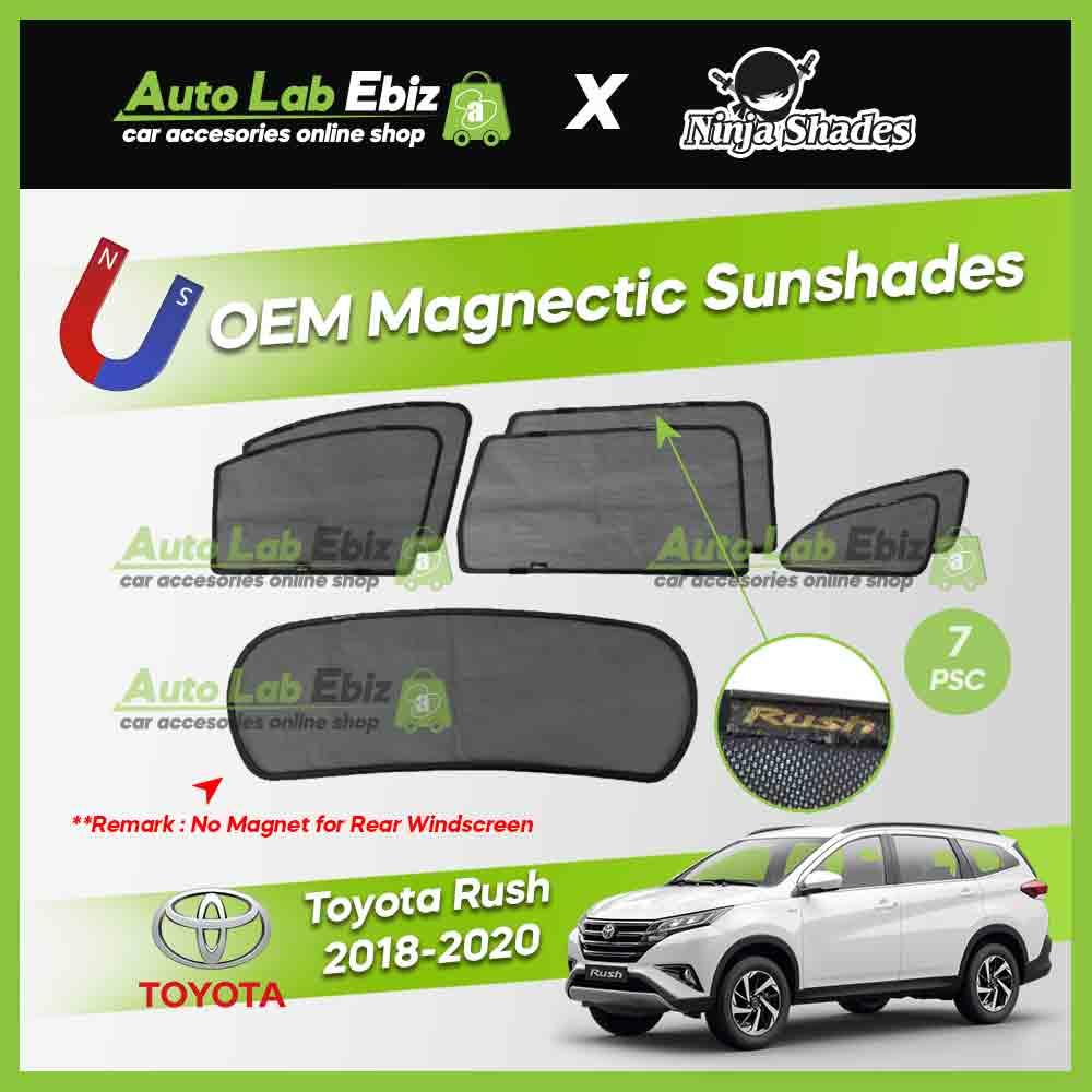 Toyota Rush 2017-2019 Ninja Shades OEM Magnetic Sunshade (7pcs)