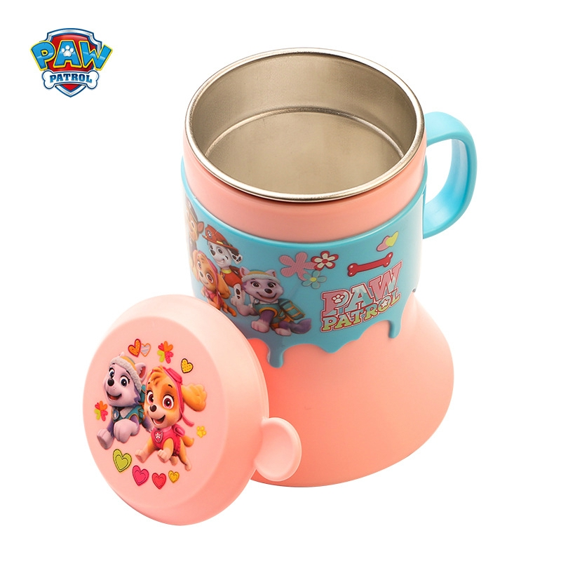 Gift Botol Air Portable Paw Patrol Kids Juice Milk Cup Handle Cup Mug Vacuum