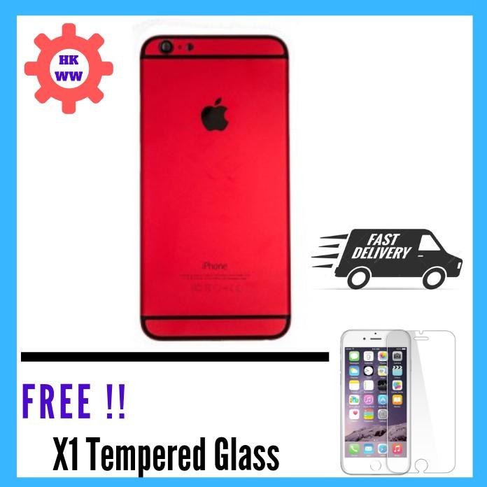 official photos c5e6e e5e8e READY STOCK ORIGINAL HIGH QUALITY IPHONE 6 6S 6 PLUS 6S PLUS HOUSING BODY  RED