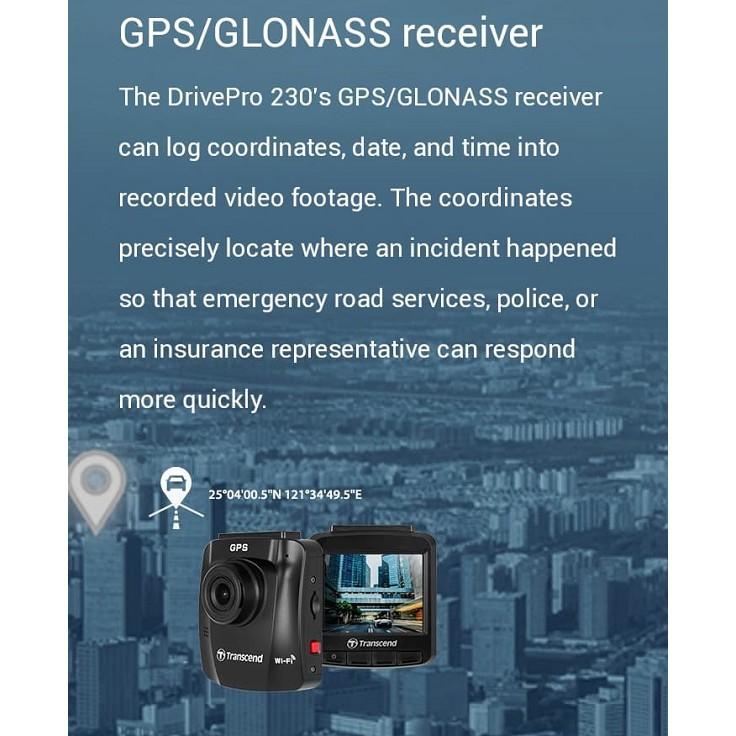 Transcend TS-DP230M-16G DrivePro 230 Dash Camera