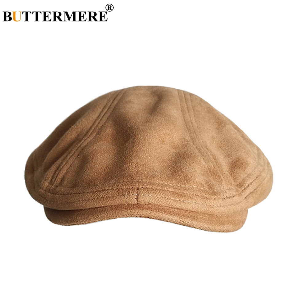 Women Men Newsboy Flat Cap Military Hat Woolen Autumn Winter Army Duckbill Baker Boy Ivy