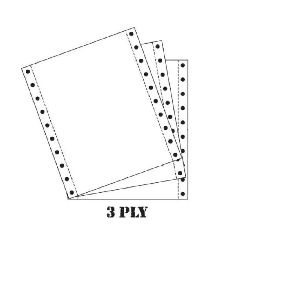 "Sonoform Computer Form 9.5"" X 11"" 3 PLY NCR 330 Fans White(White/White/White)"