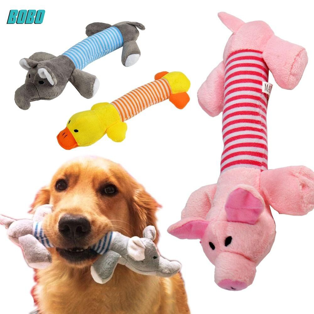 MAR New Dog Toy Pet Puppy Plush Squeaker Squeaky Toys Pig Duck Elephant toys | Shopee Malaysia