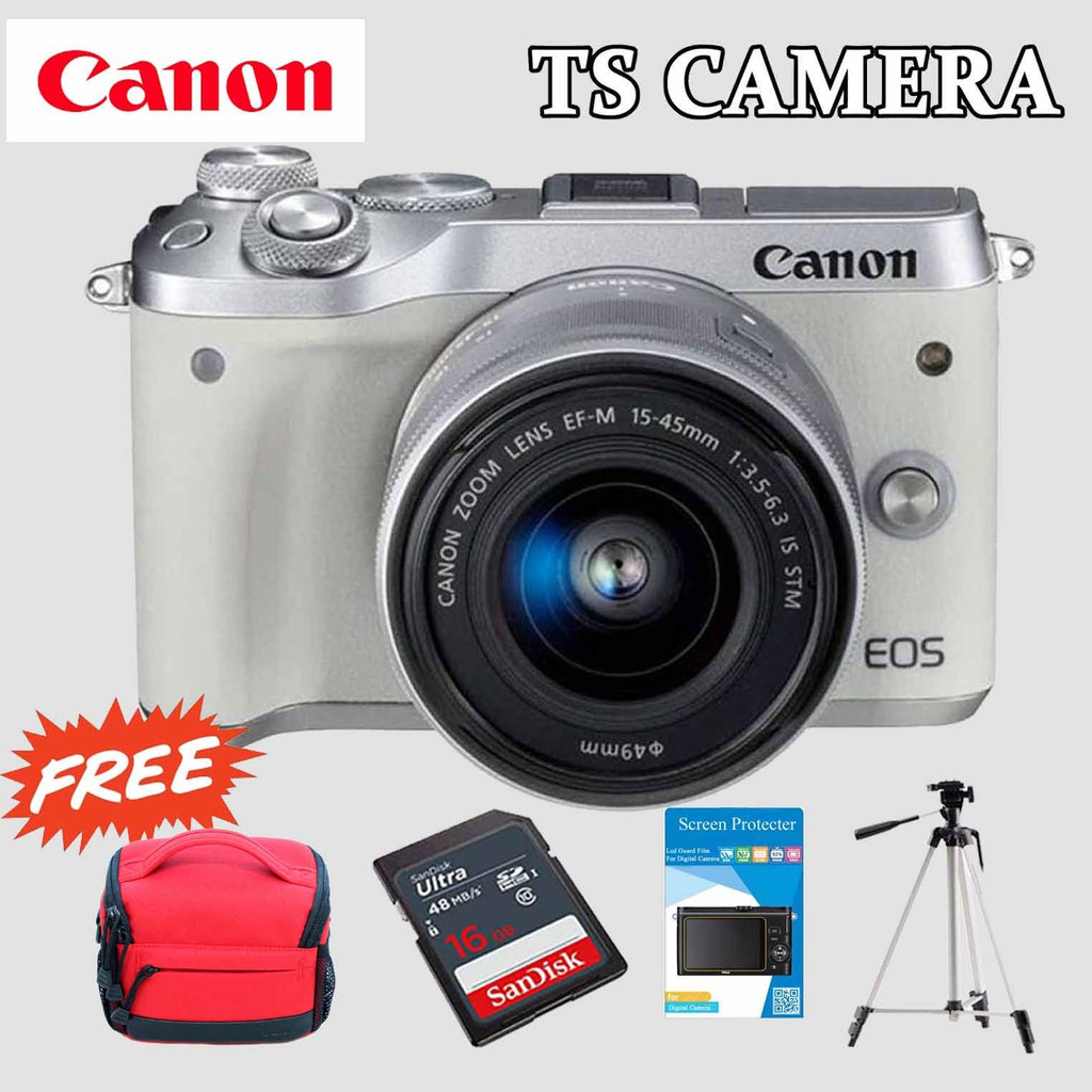 CANON EOS M6 WITH LENS EF-M 15-45MM (1+2YEAR CANON MALAYSIA WARRANTY)