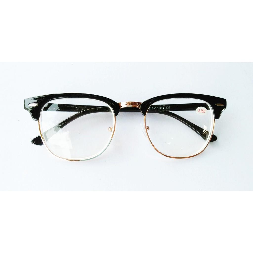 แว่นสายตาสั้น -0.5ถึง-4.0 กรอบครึ่