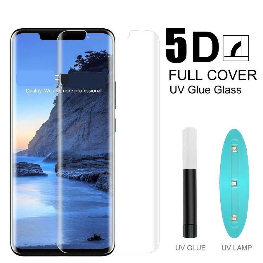 Imagini pentru LIQUID GLASS TEMPERED GLASS 5D WITH UV LAMP HUAWEI mate 20 pro