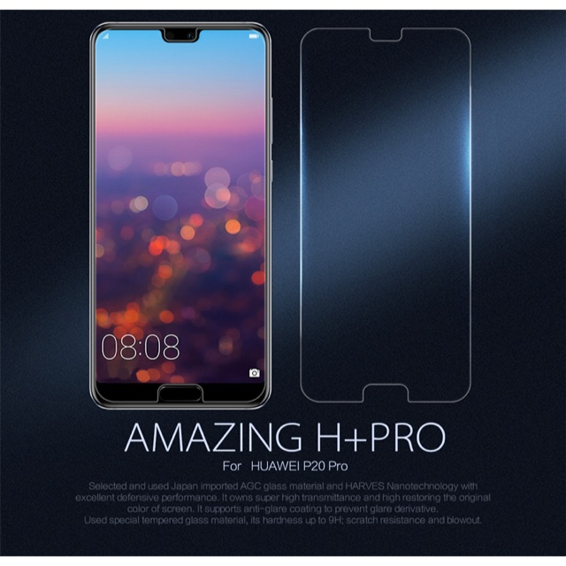 Nillkin ฟิล์มกระจกนิรภัย Huawei P20 Pro รุ่น Amazing H+ Pro 0.2mm. Ultra Thin 9H har