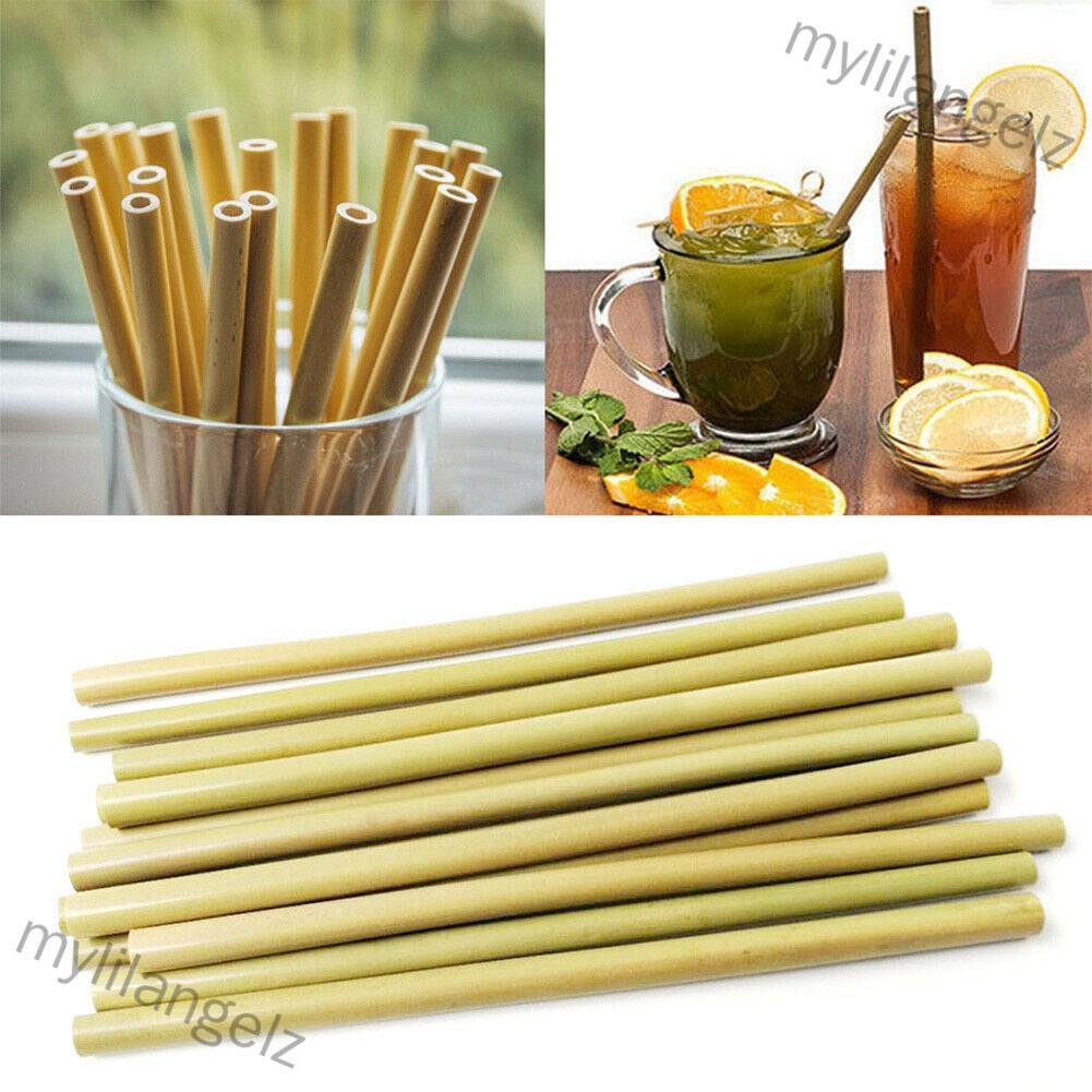 Mylilangelz 1pcs Bamboo Drinking Straw Eco-friendly Wood Straws Tableware