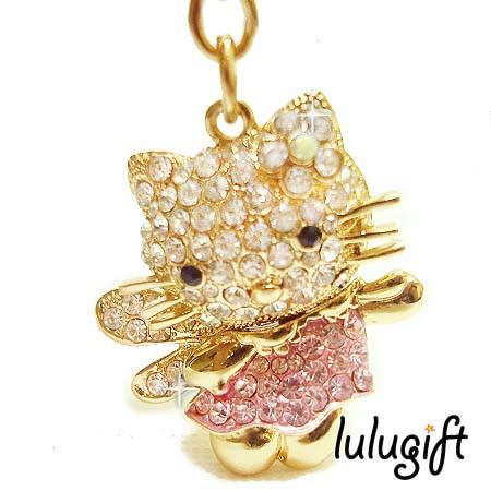 0eac23131 (4 Color Available)Lulugift Cute Hello Kettyy Use Swarovski Shining Key  Chain | Shopee Malaysia