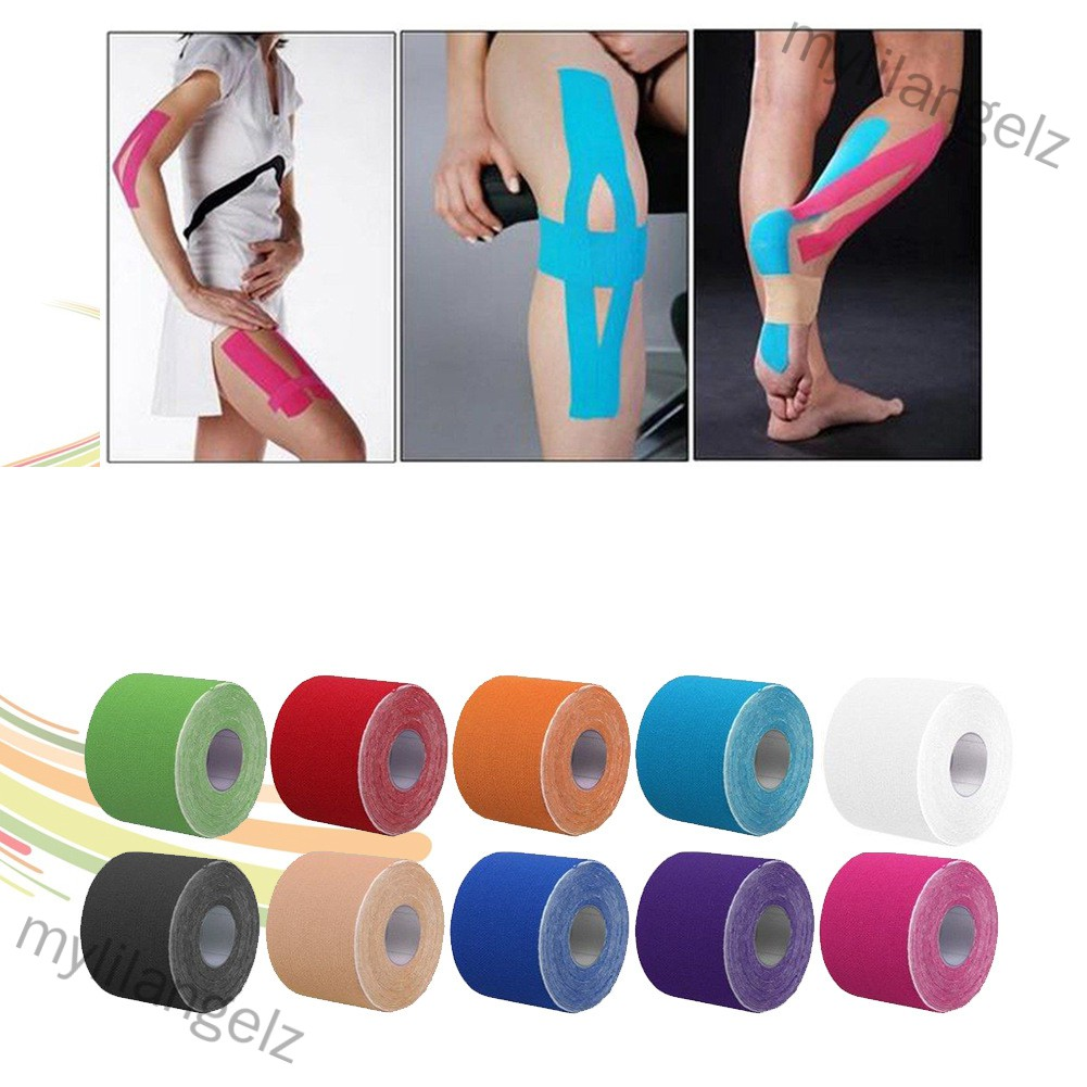 Mylilangelz Kinesiology Therapeutic Tap Self Adherent Cohesive Cotton Bandage Sport Injury Muscle Protect Bandage