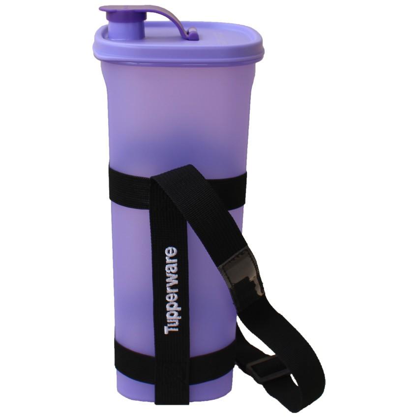 Tupperware Fridge Water Bottle with Strap (2L) - Purple