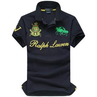 Blue Royal Big Pony Est Vii Men Short Fit Ralph Custom Shirt Mcmlx Lauren Sleeves Polo wOkXPZiTlu