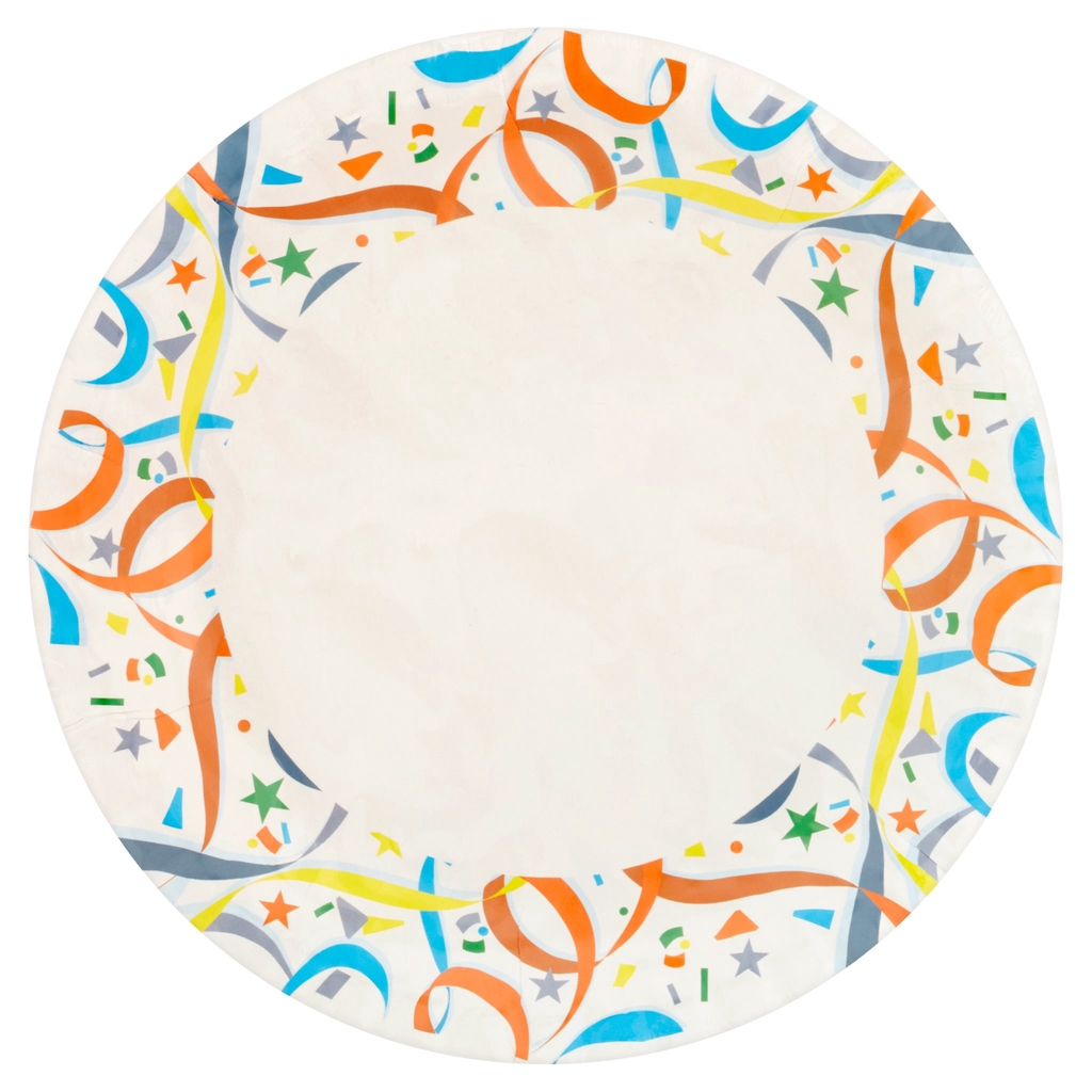 "Natura Party Wares Paper Plate Printed Design 8""/20cm 20 Pcs"