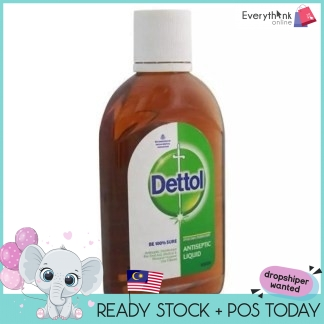 READY STOCK DETTOL LIQUID ANTISEPTIC 60ML