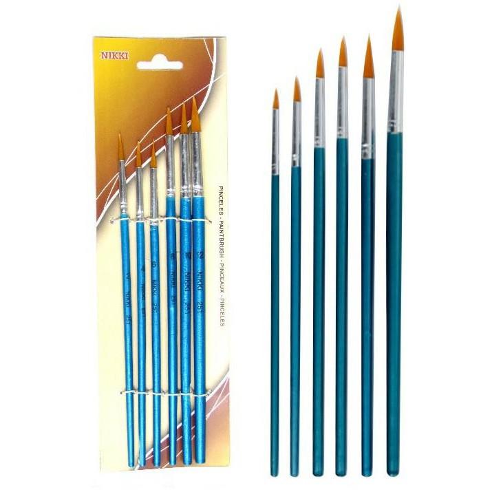 Nikki 6251 Nylon Brush Set