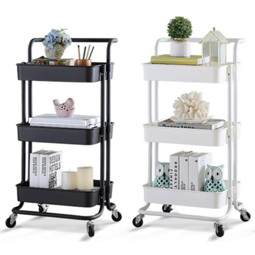 Readystock 3 Tier Trolley Home Storage Racks Office Shelves Kitchen Rack Rak Tempat Letak Barang Dapur Rak Beroda Shopee Malaysia