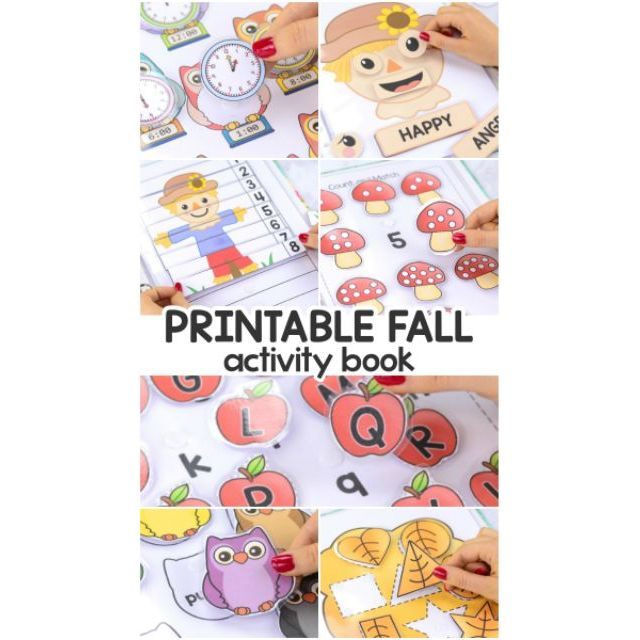 Montessori activity book, quiet book printable (Fall Series)