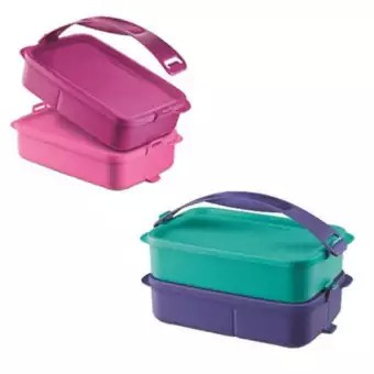 Tupperware Food Container Square Click To Go 900ml 1.5L