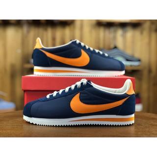 meet def3a 1c9d3 authentic nike cortez classic nylon navy blue orange men wom ...