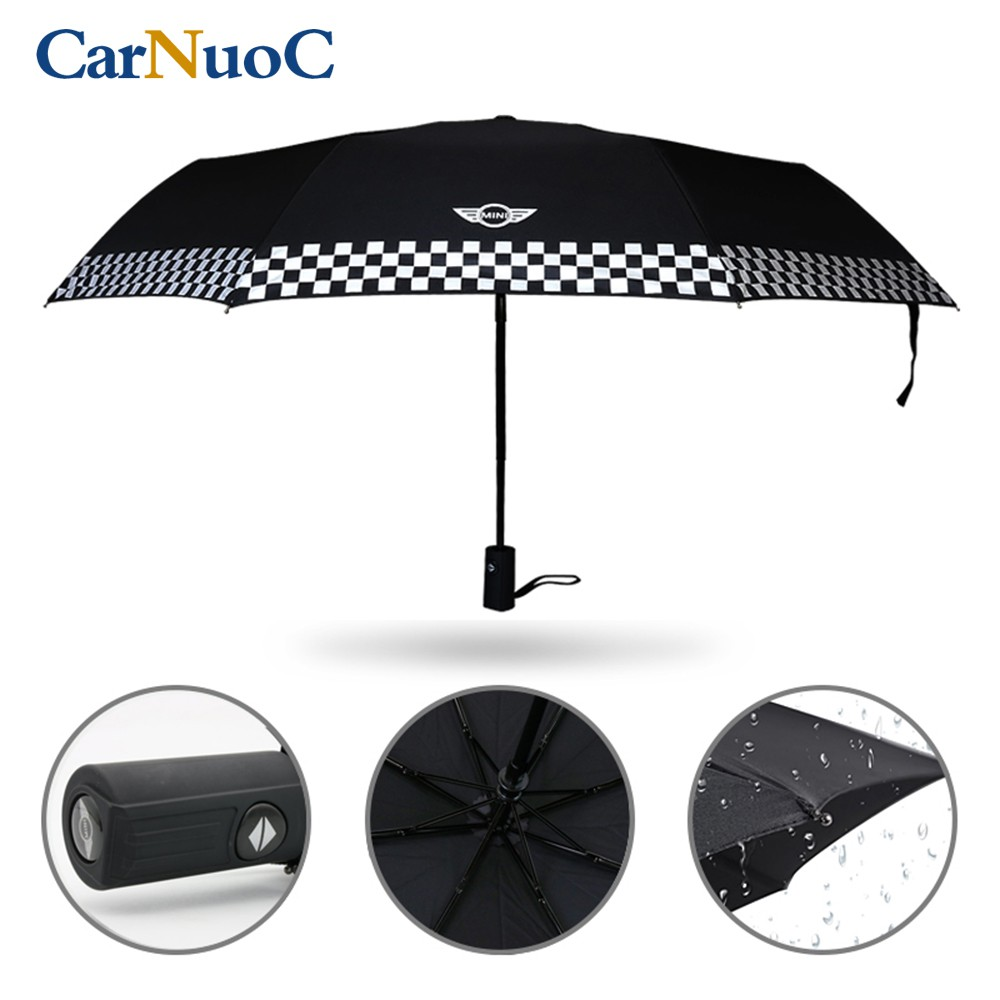 522f817221cb BMW MINI Cooper Car Logo Stickers Automatic Umbrella