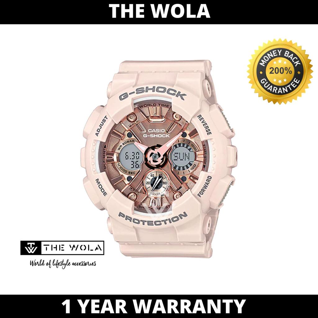 Casio G-Shock S-Series Women's Analog Digital  GMA-S120MF-4ADR Pink Resin Band Sport Watch