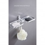 GDeal 304 Stainless Steel Bathroom Rack Washroom Soap Holder Toilet Drain Soaps Wall Sunction Shelf