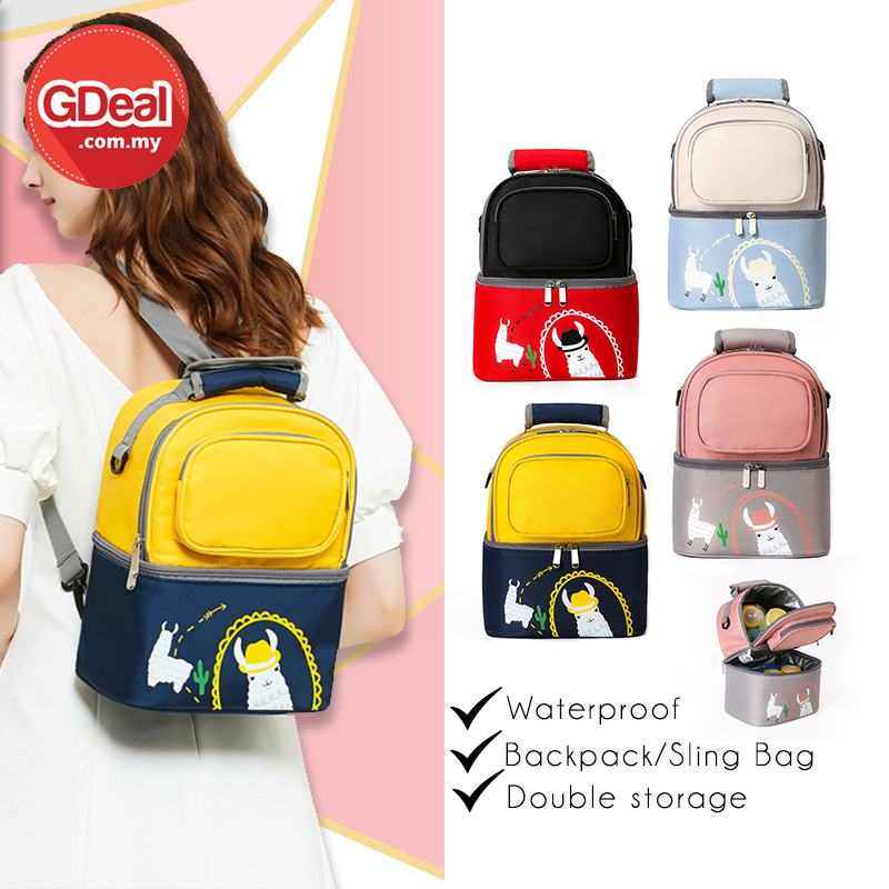 GDeal Multifunctional Milk Bag Double Layers Maternity Backpack Mummy Outing Sling Bag Beg Bayi