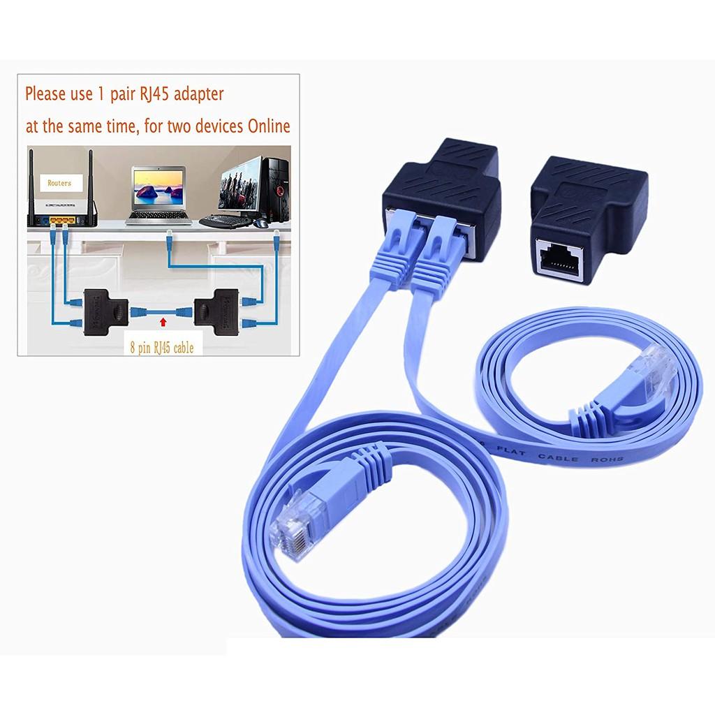 (1-Pair)  RJ45 Splitter Adapter,SinLoon  Ethernet Cable Splitter
