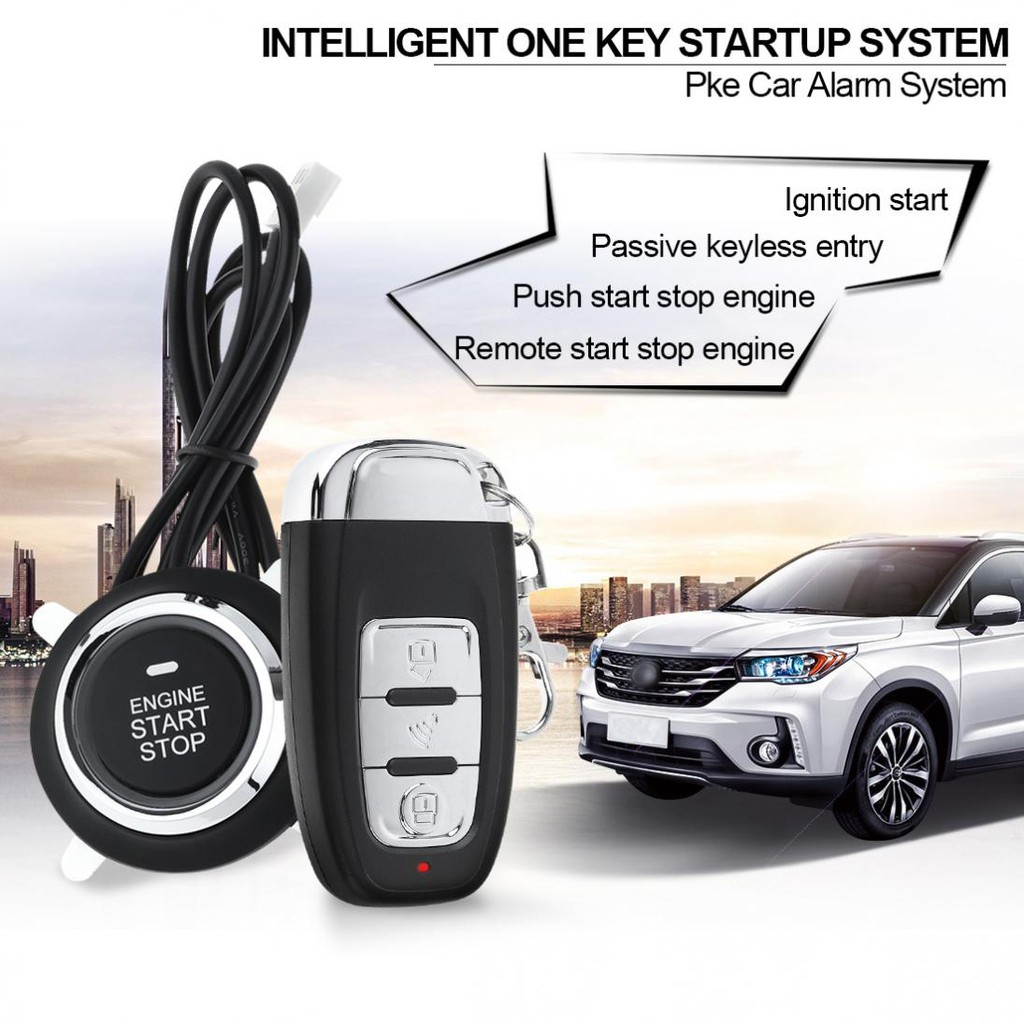 Pke Car Smart Alarm Remote Initiating System Start Stop