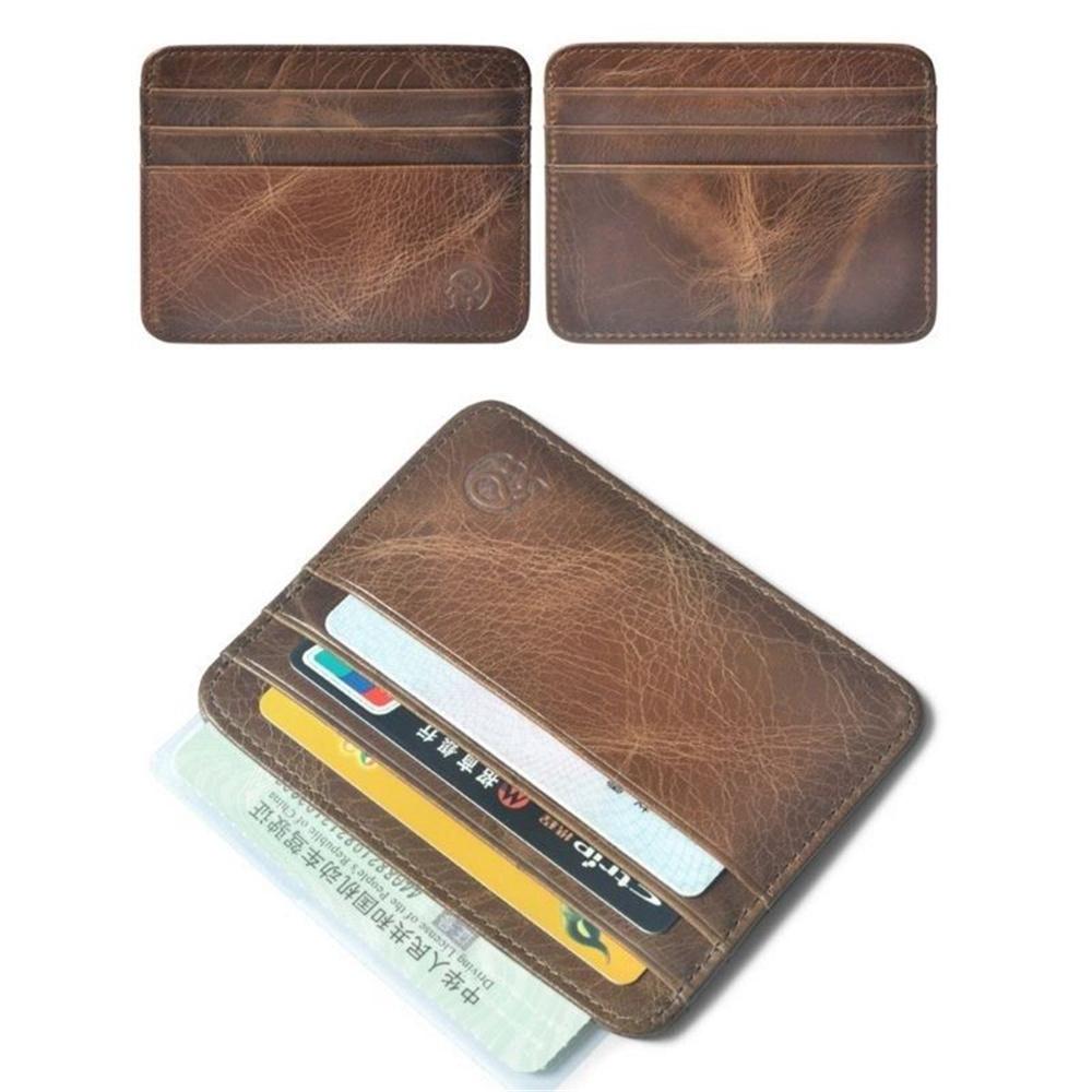 Men/'s Genuine Leather Slim Wallet ID Money Credit Card Slim Holder Money Pocket