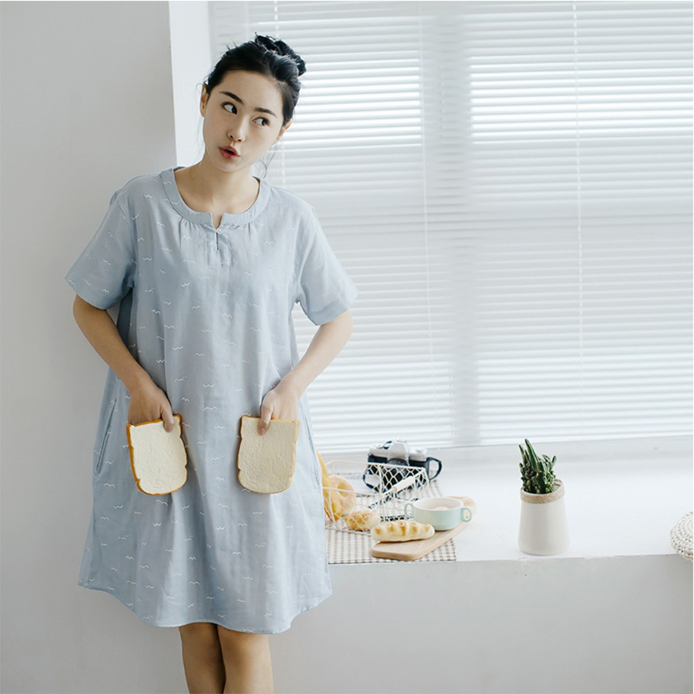 6a2730e2539 Cotton Short Sleeve Night Dress - Data Dynamic AG