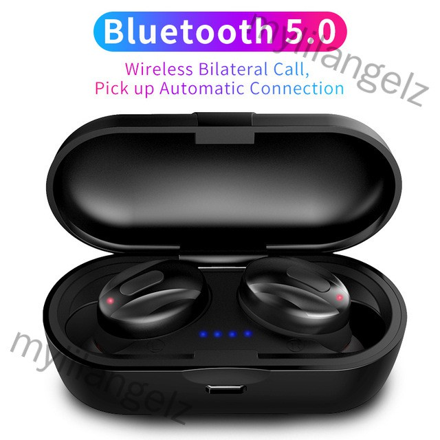 Mylilangelz TWS V5.0 Handsfree Headsets Bluetooth Headsets Dual Stereo Headset for iphone All Smartphones