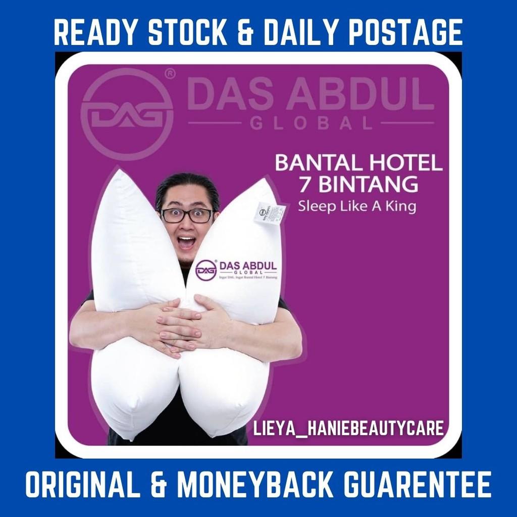 Free Gift Bantal Dag, Das Abdul 100% Bantal Berkualiti Hotel, Tahan Lasak, Gebu, Boleh Dibasuh