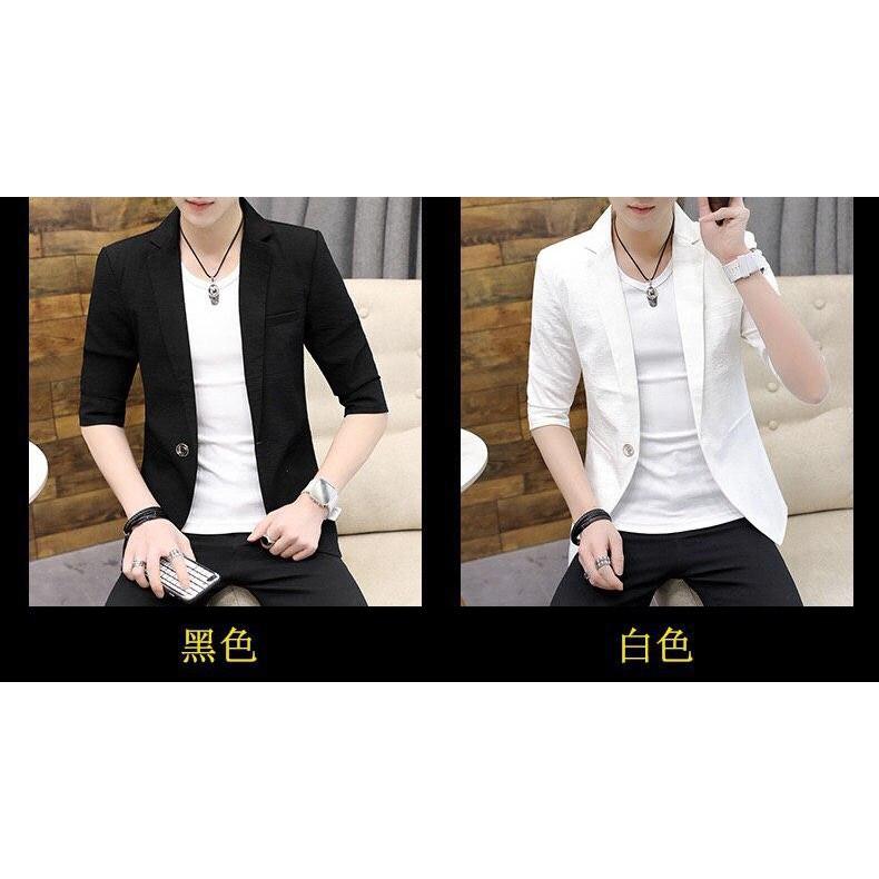#Korean half sleeve suit# Slim Fit Fashion Style
