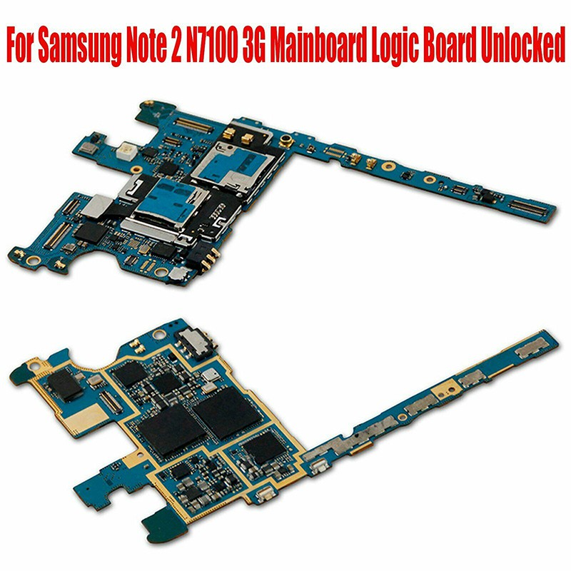 Replace For Samsung Galaxy Note 2 N7100 Motherboard Mainboard Logic Board  Unlock