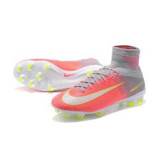 more photos 144ab b3c06 Nike Men's ACC Mercurial Superfly V FG Cleats Soccer Shoes Pink/Grey