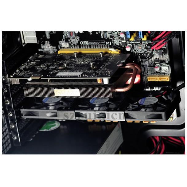 Mount 3x Fans Rack PCI Slot Bracket for video card 3x 8cm//thickness 15mm Fans
