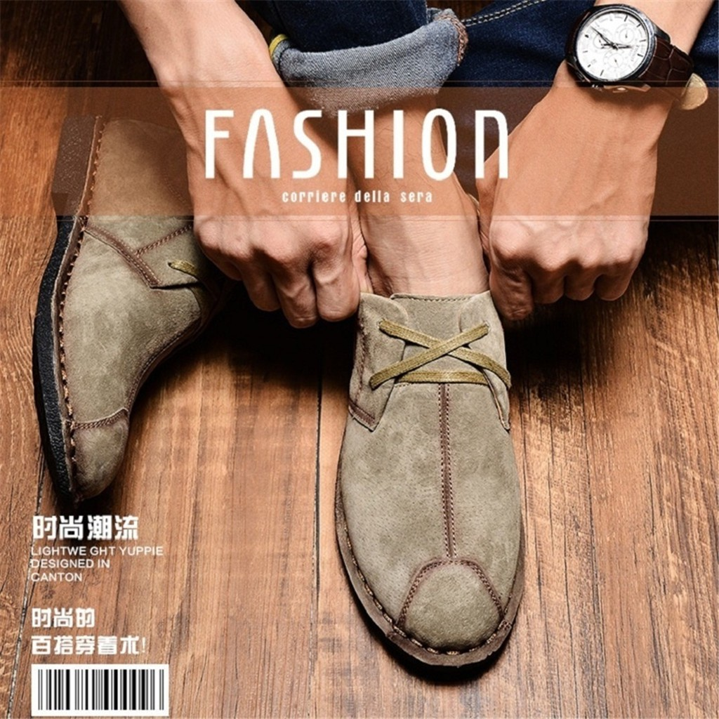 7ef15a4f41e4 2018 New Style Comfortable Men's Suede Matte Leather Shoes