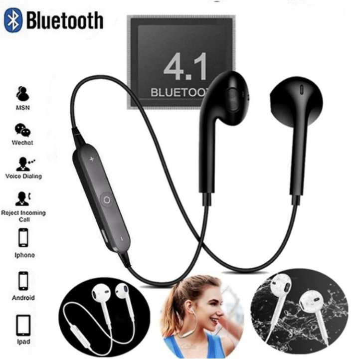 S6 Wireless Sports Headphones Bluetooth 4 1 Headsets Sport Stereo Earphone  For iOS & Android