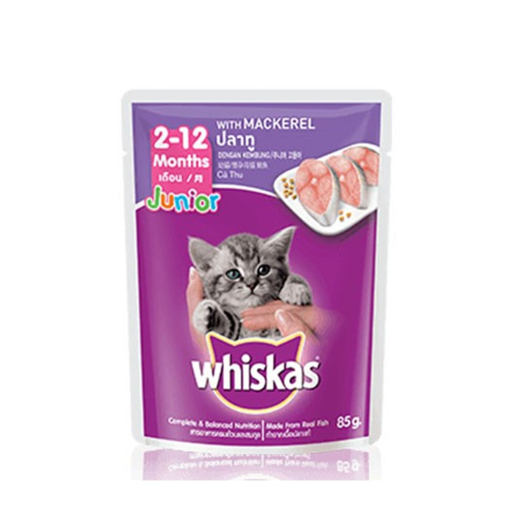 Whiskas Junior Up to 1 Year Mackerel Cat Food (80g