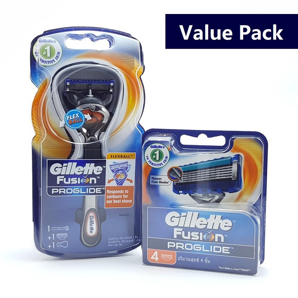 Gillette Fusion Proglide Flexball Razor Value Pack Shopee Malaysia Manual