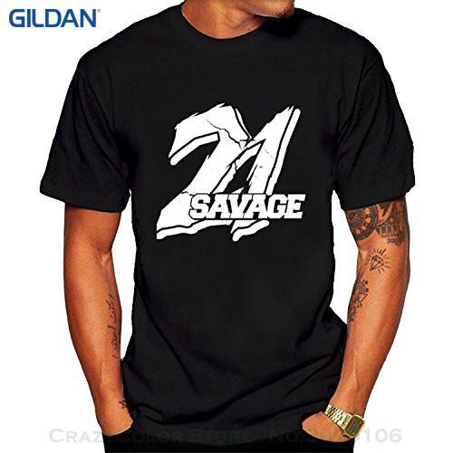 b553e305 Printed T Shirt Men Cotton T-shirt New Style Men's 21 Savage Hip Hop  Tshirts Bla