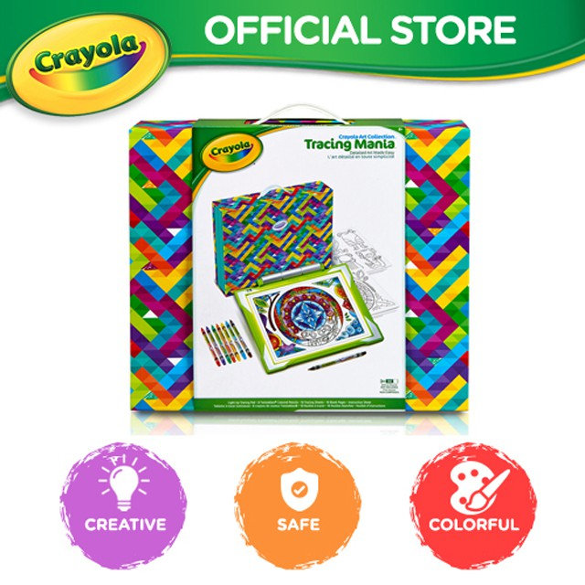 Crayola Tracing Mania Create Crazy Detailed Designs With Ease Deluxe Light Up Tracing Desk Perfect Gift For Kids Age 2 Shopee Malaysia