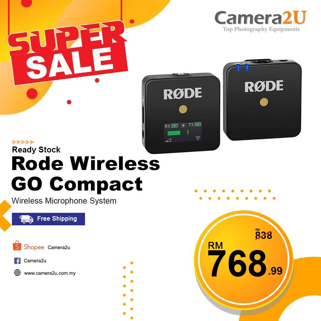 READY STOCK Rode Wireless GO Compact Wireless Microphone System