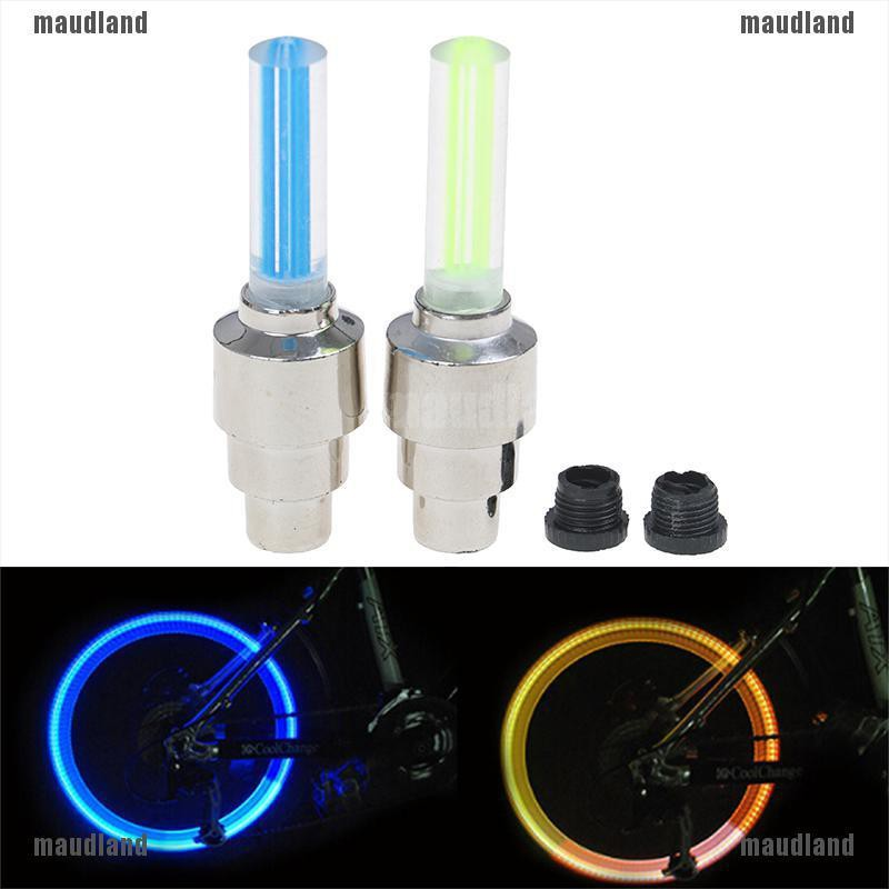 2pcs Colour LED Skull Valve Cap Wheel Tire Bike Bicycle Light Spoke Neon Lamp