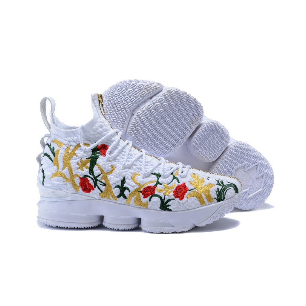 uk availability 5b86f 8a7d8 LeBron Raymone James 15 men's Flower High Tops sport NBA Basketball shoes