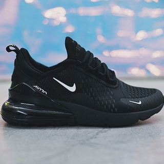 watch eca1b 8ce41 Nike Air Max 270 Shoes Men Airmax 27C Running Sneaker Flyknit Cushion Full  Black