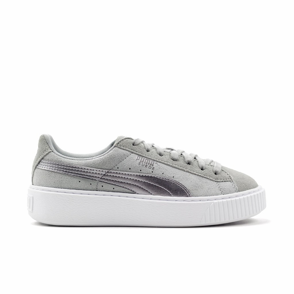 Authentic Puma Suede Basket of rice white bow Women s sandals 363073 ... dff1c6ab4