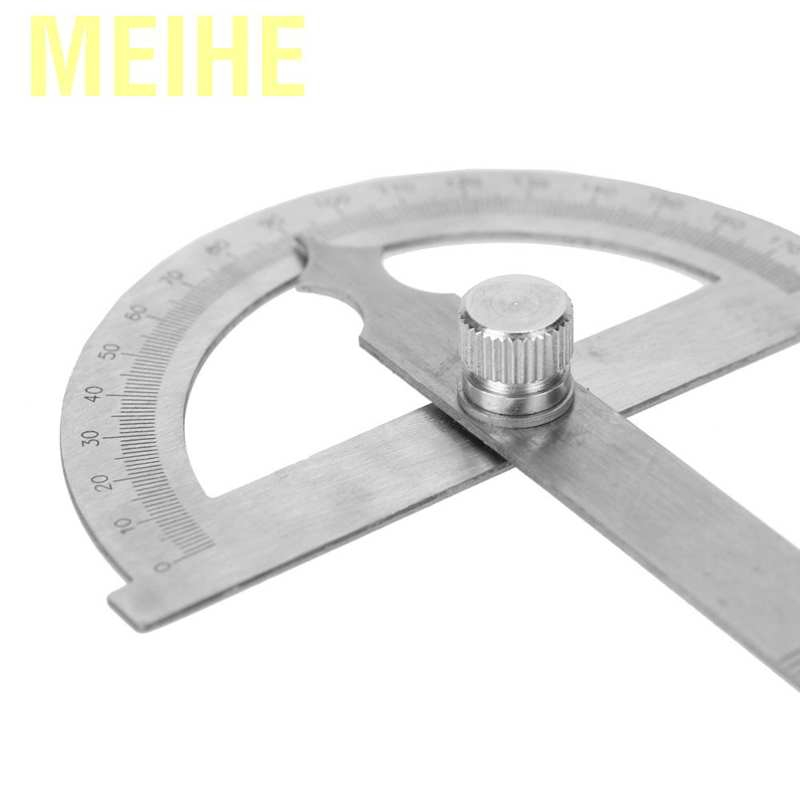 """Stainless Steel Protractor 0-180 Degrees with Round Head 150mm 5.91/"""" Ruler"""