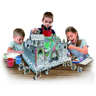 [Creative Toy] Paper Art Cardboard DIY 3D Coloring Parent Child Birthday  Gift Castle